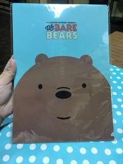 We Bare Bear - A4 File Folder (3 pcs) - Face look #STB50