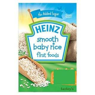 PROMO Heinz Smooth Baby Rice First Foods