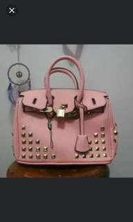 Tas pink model hermes