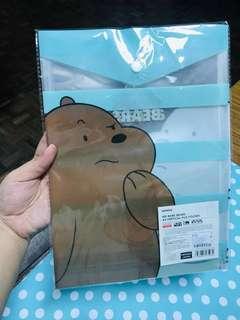 We bare bear - A4 vertical file folder (2 pcs) #STB50