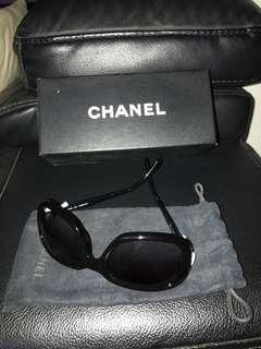 Authentic Chanel sunglasses with white ribbon