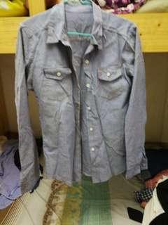 復古做舊藍色外套