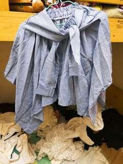 條紋不規則短裙