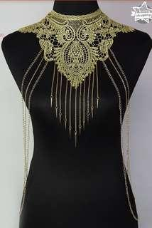 Lace Body Chain (with post) #makespaceforlove