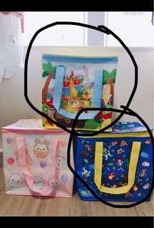 兩款全新迪士尼公仔保溫袋/冰袋/野餐袋(toy storyx2/tella loux6)