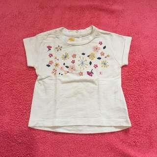 Kaos anak chicco putih bunga