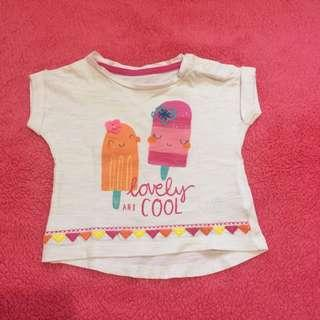 Kaos Mothercare lovely and cool putih