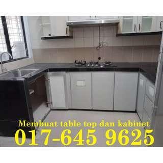 Membuat table top dan kitchen cabinet samsul alif 017-645 9625