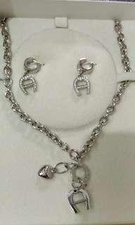 Aigner Jewelry Set Sterling Brand New with box