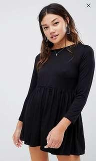 Wednesday's girl long sleeve smock dress
