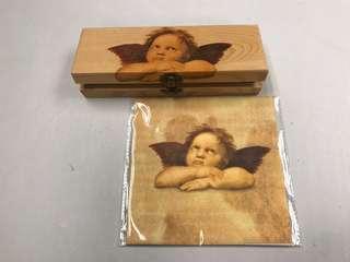 手工拼貼木筆盒