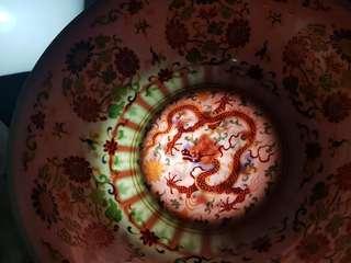 Eggshell Porcelain Dragon Bowl
