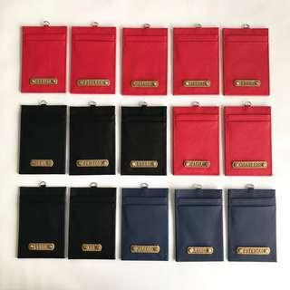 Gift Lanyard Card Case Slot Office School Holder Customised Personalised Strap Travel Organizer