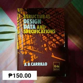 STRUCTURAL DESIGN DATA AND SPECIFICATIONS