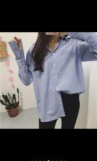 🚚 韓版 條紋襯衫