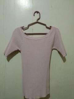 Ribbed Top (baby pink)