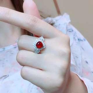2.01ct 18K金天然紅寶石鑽石戒指 18K gold Natural ruby diamond ring (AIGS證書)