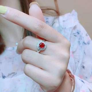 1.02ct 18K金天然紅寶石鑽石戒指 18K gold Natural Ruby diamond ring (AIGS證書)