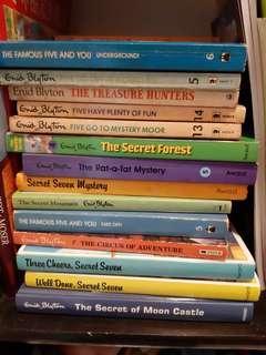 Famous five Secret seven enid blyton books