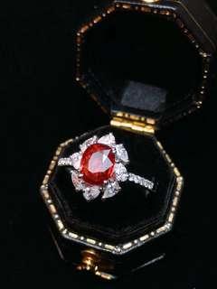 1.12ct-18K金天然紅寶石鑽石戒指 18K gold Natural ruby diamond ring (AIGS證書)