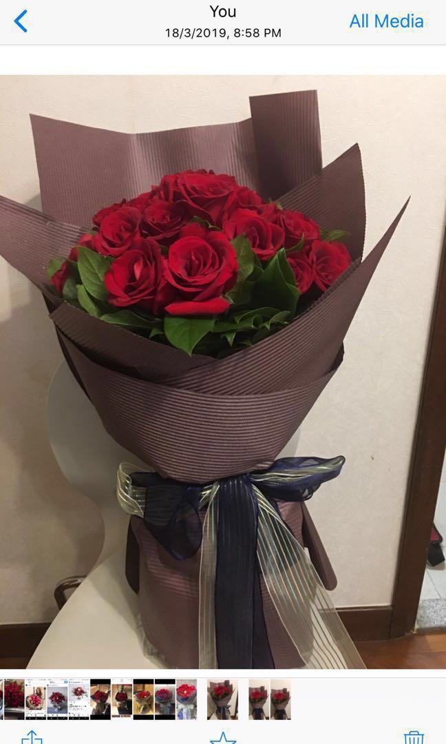 鮮花花束、38 枝紅玫瑰、生曰花束、求婚花束、母親節禮物、情人節花束、花束