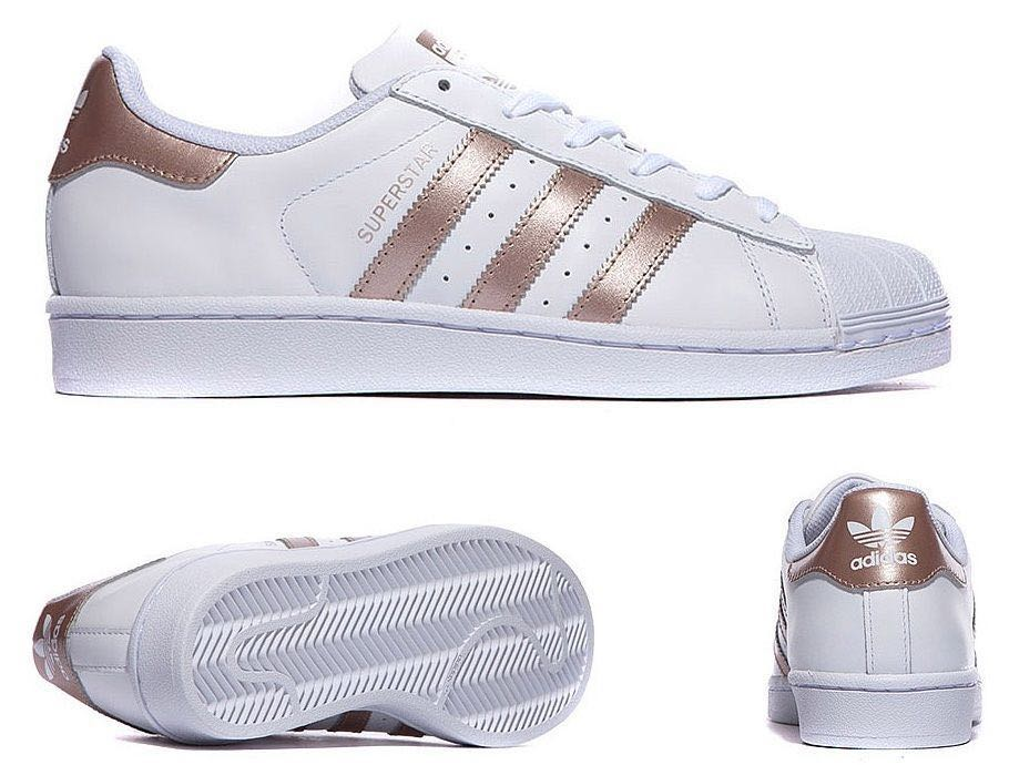 0b39b3a865755 Adidas Superstar W Rose Gold Sneakers, Women's Fashion, Shoes ...