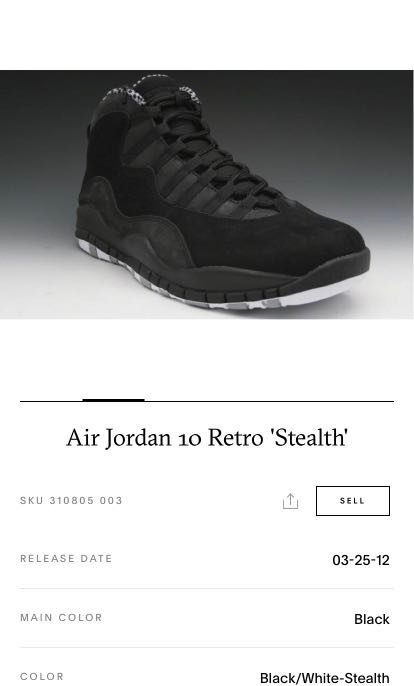 online store eaa81 c1e18 Air Jordan 10 Retro Stealth, Men s Fashion, Footwear, Sneakers on ...
