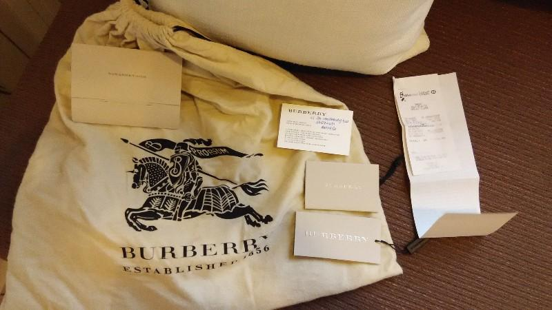 Authentic Large Burberry Canterbury Boysenberry Special Edition Tote Bag With Receipts