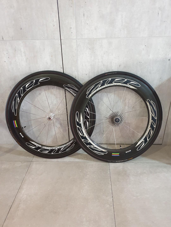 Authentic  ZIPP 808 Tubular carbon wheelset