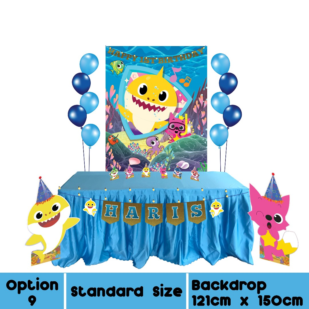 Baby Shark Theme Birthday Decoration Rental From 6380 Design