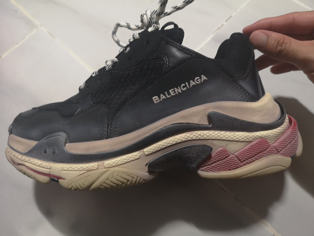 fbdf494f7d7 Balenciaga Triple S Black Red Sneakers