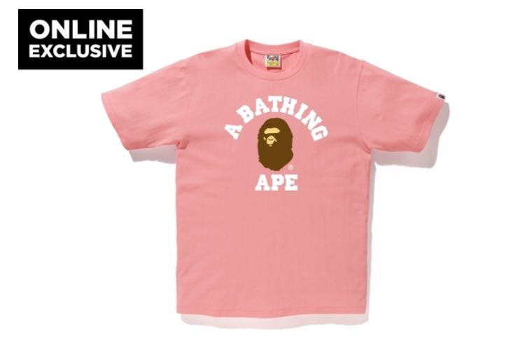 964540ac Bape college tee online exclusive, Men's Fashion, Clothes, Tops on ...