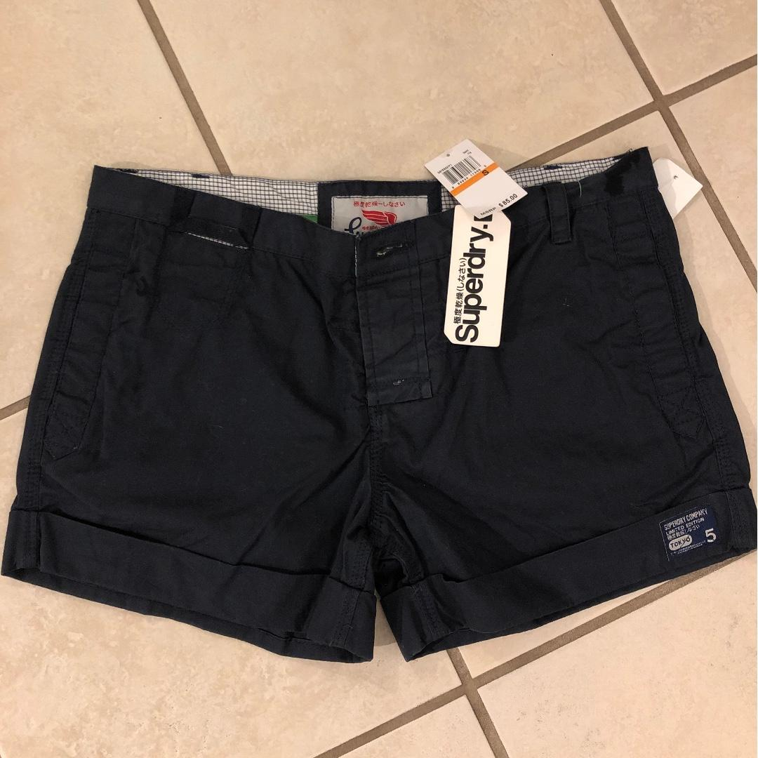BNWT Superdry Navy Chino Shorts
