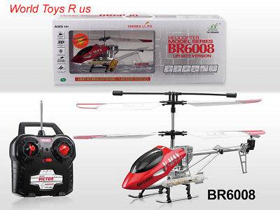 BR6008 V MAX 3.5 CHANNEL SUPER ALLOY METAL FRAME RC HELICOPTER IN GYRO FLASHING