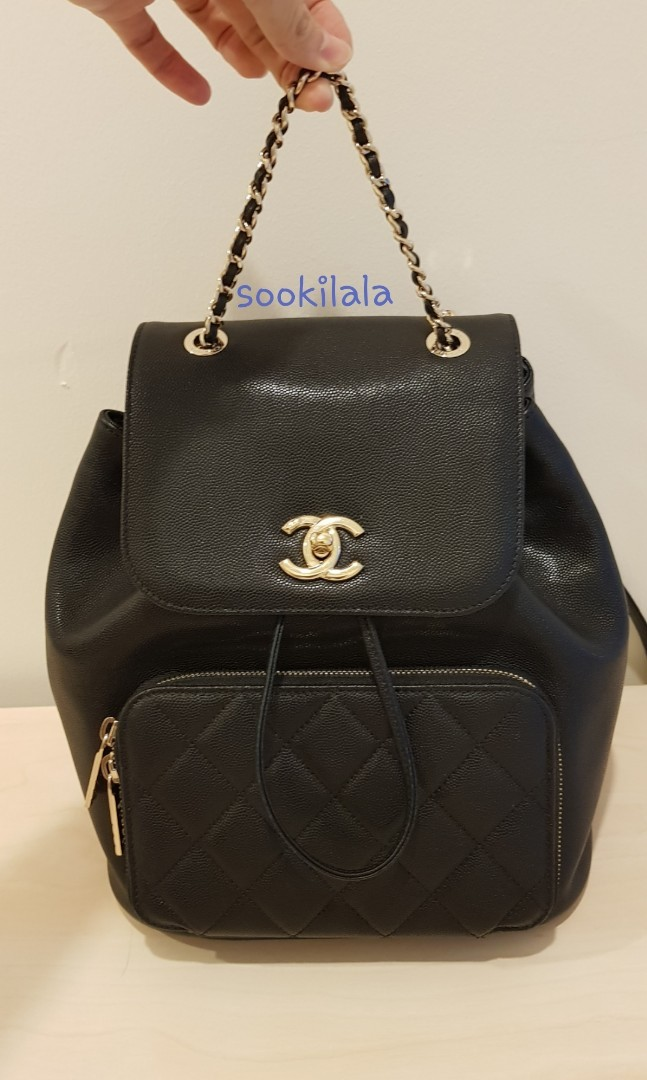 92435532ceb0 CHANEL Business Affinity Backpack bag caviar black GHW, Luxury, Bags ...