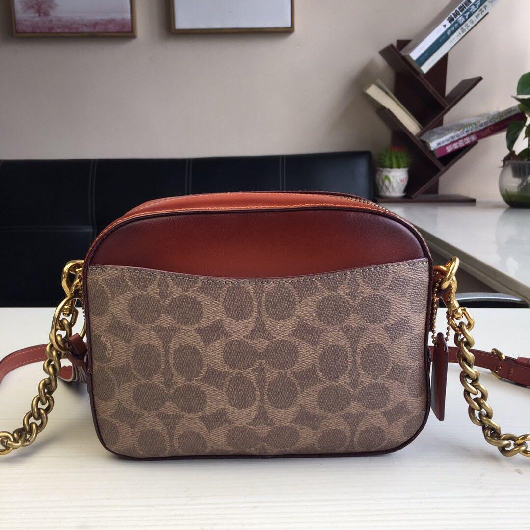 Coach Camera Bag In Signature Canvas Sling Pouch Clutch Women Bag Beg 31208 f31208