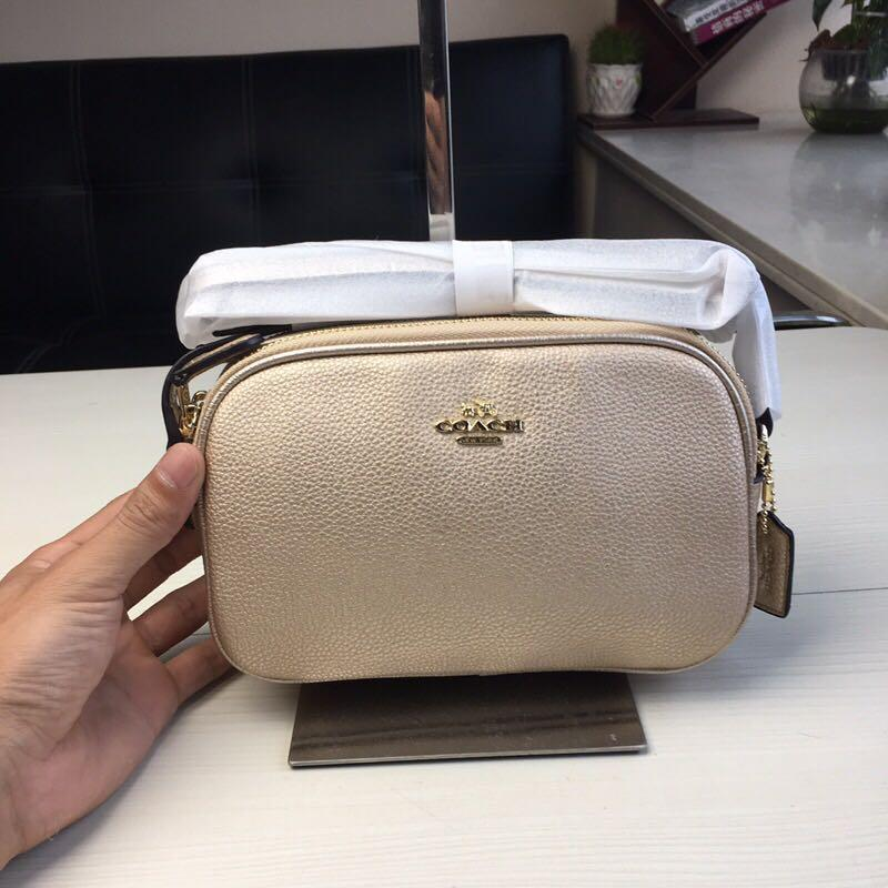Coach Mini Crossbody Pouch In Pebble Leather Bag Women Sling Beg Gold 65988 f65988
