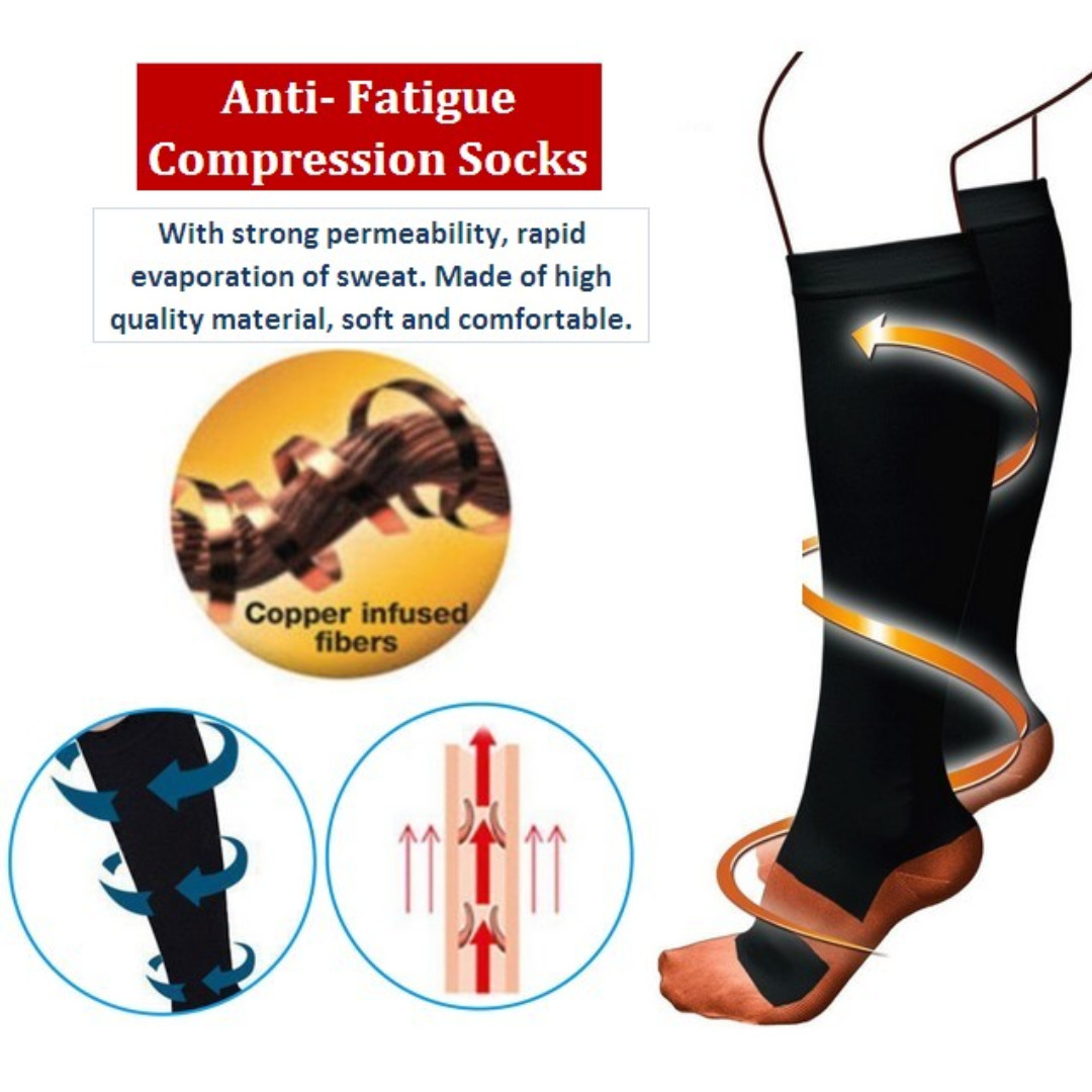 310d86d2f2 Compression Socks Fatigue Feet Compression Therapeutic Socks ...