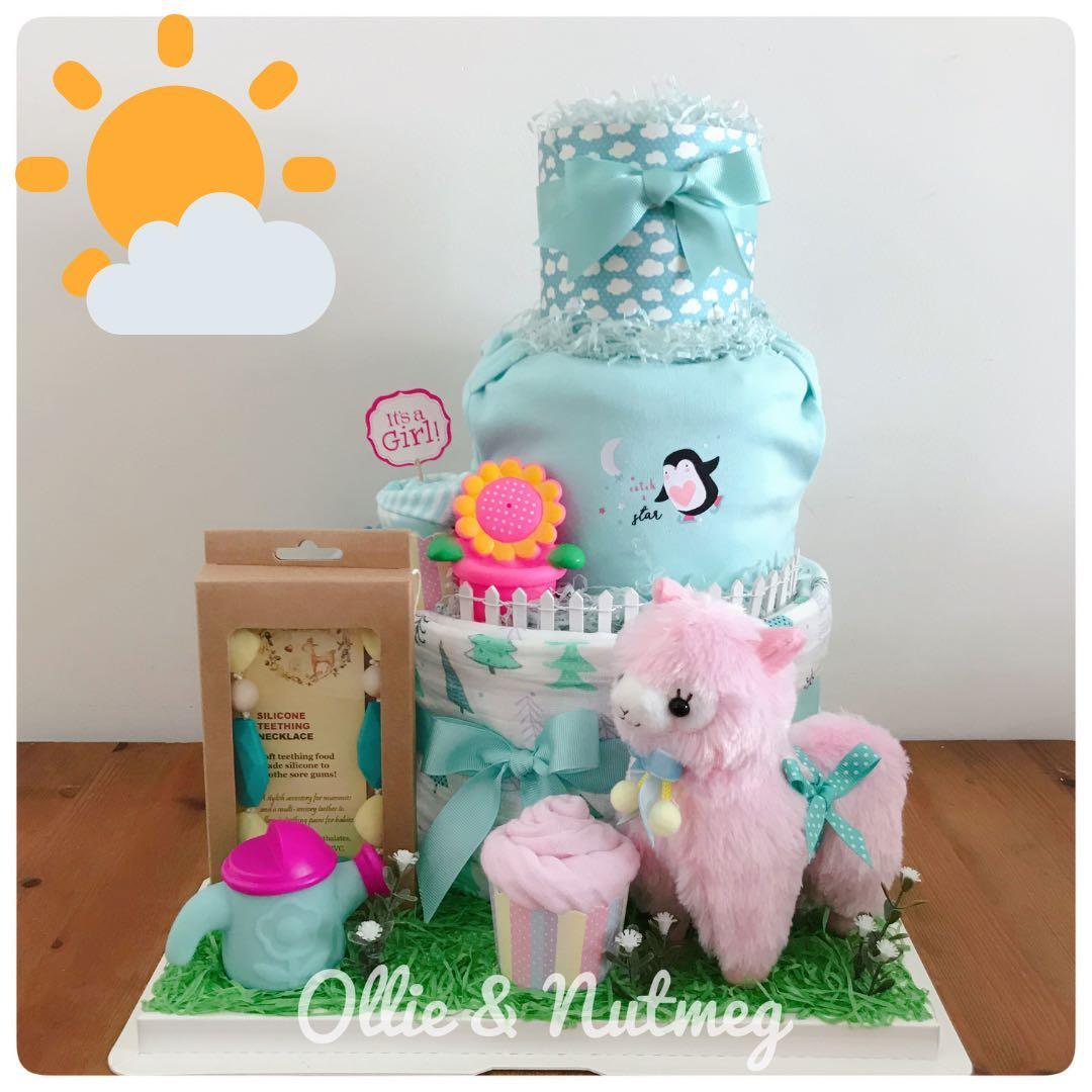 Diaper Cake Hamper for Baby Showers