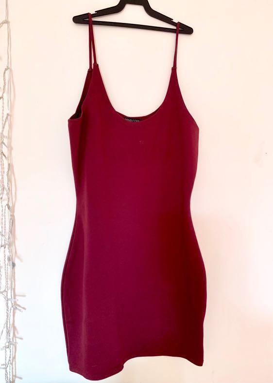 Fashion Nova Red Bodycon Dress Size 10/ small medium