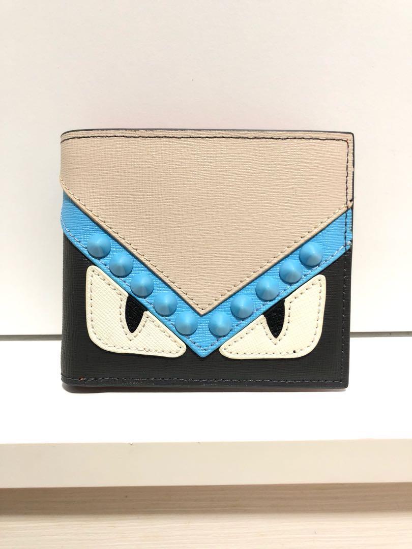 54402a816f Fendi monster bi-fold wallet (inspired), Men's Fashion, Bags ...