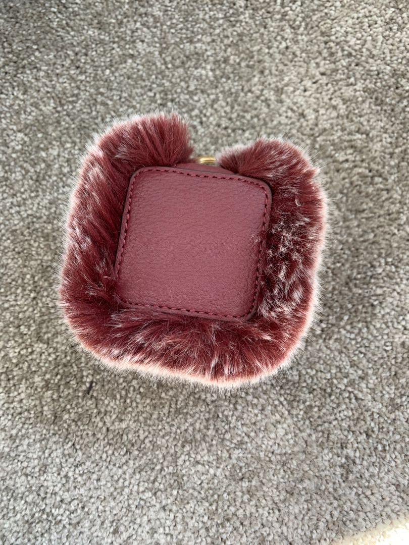 Furry MIMCO coin purse/box key chain