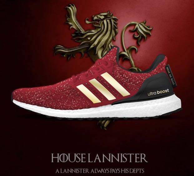 7d6eadaf Game Of Thrones x Adidas Ultra Boost [House Lannister], Men's ...
