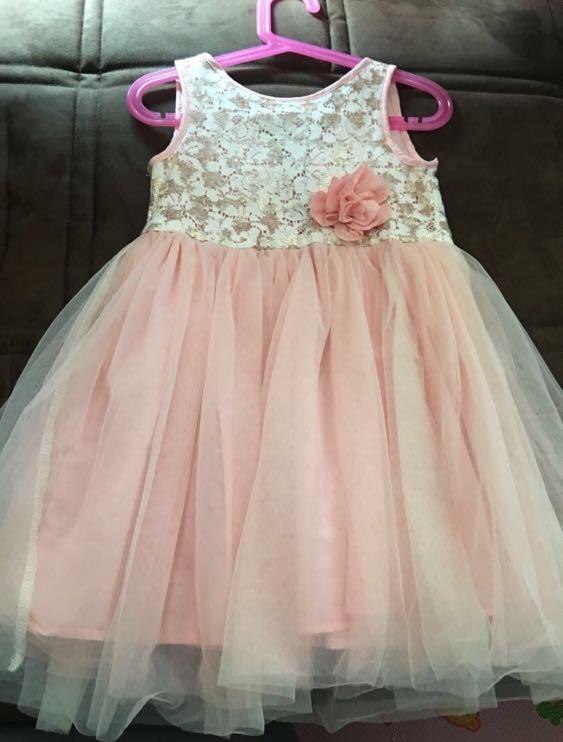 H&M peach pink dress with tulle