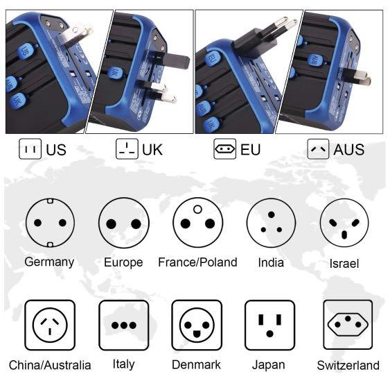 International Universal Travel Adapter Brand New