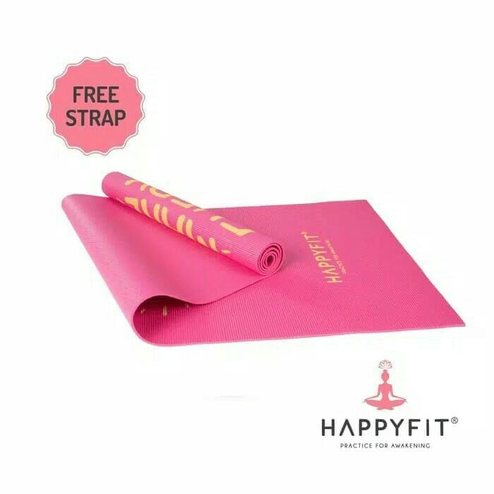 Matras yoga PVC happyfit 4mm bonus strap