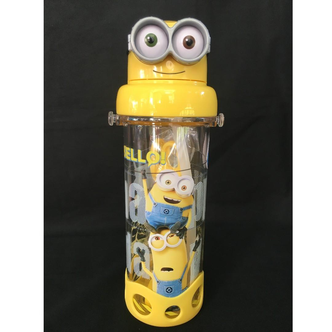 8c1dd3375b Minion Straw Water Bottle (BPA Free), Babies & Kids, Nursing ...