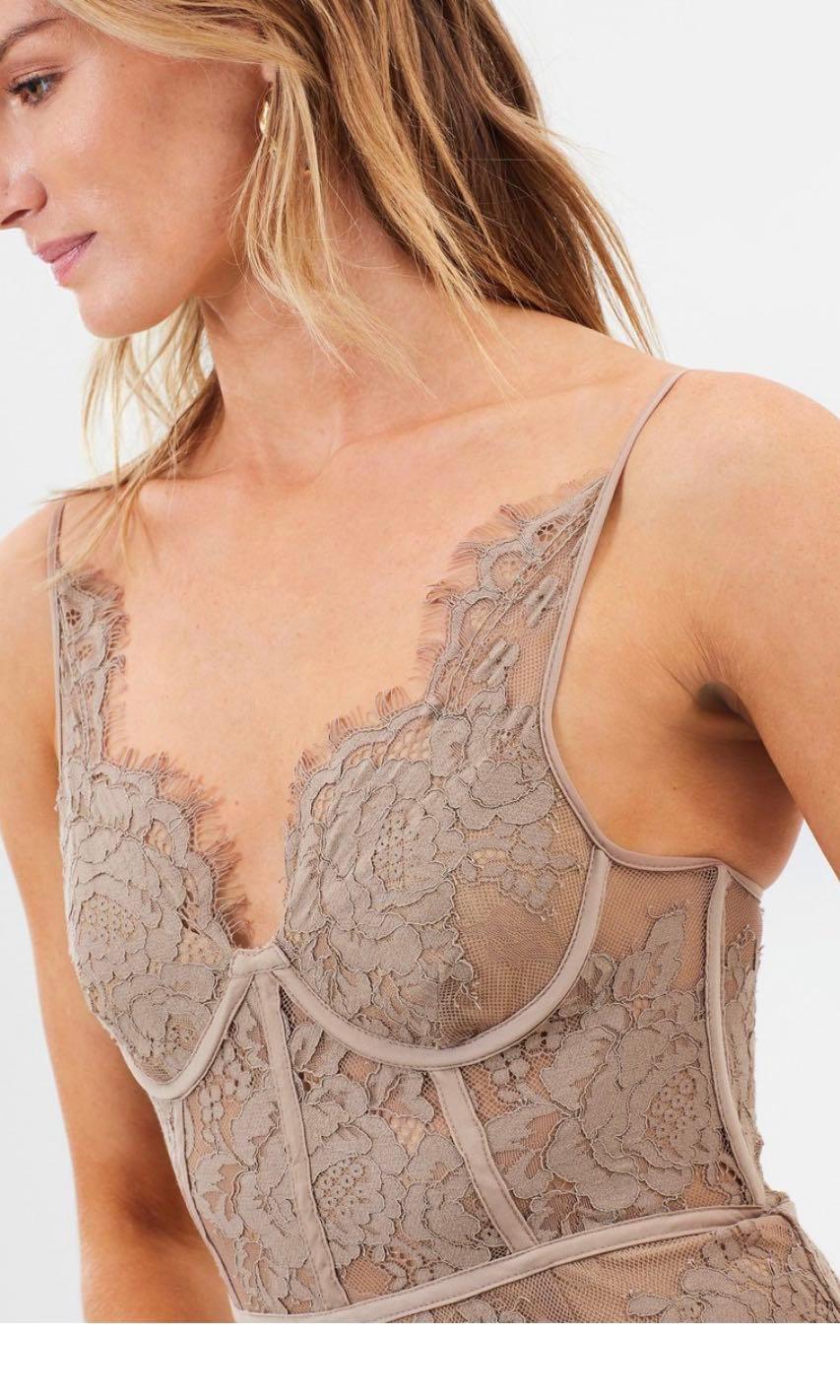 Misha Collection fine lace dress