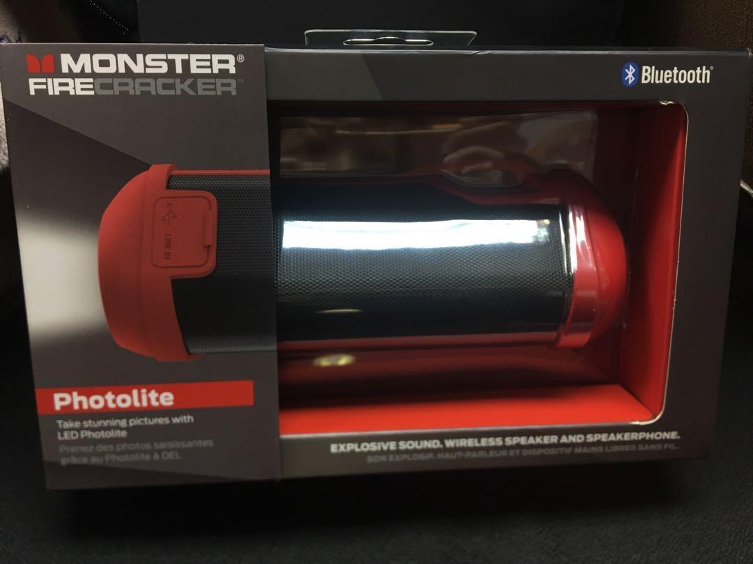 Monster Firecracker 便携式無線藍牙喇叭