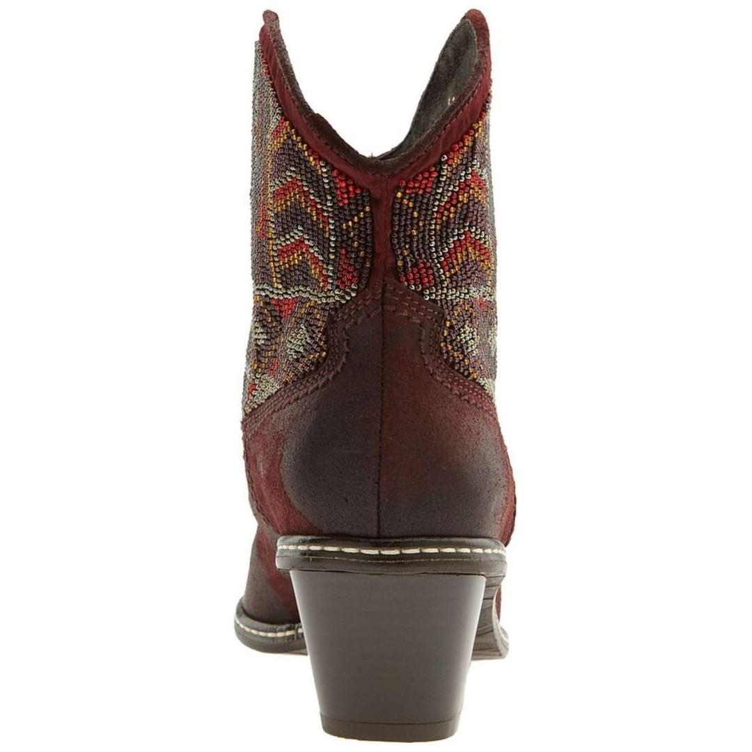 NEW Donald J Pliner Boot, Italian Leather Cowboy Beaded Pointed Toe, 6M, RRP$650